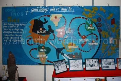 Route perjalanan para manusia perahu dari vietman ke seluruh dunia dan Indonesia